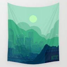 Wall Tapestry featuring City Overlook by LIONESS