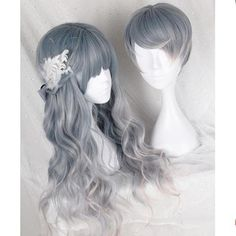Pastel Gradient Grey Couple Wig SP168150