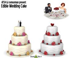 Edible Wedding Cake at Around the Sims 4 • Sims 4 Updates