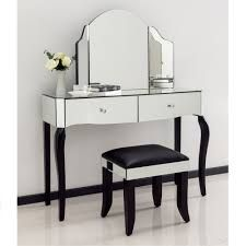 This Wonderful Romano Crystal Mirrored Dressing Table Set Is A Fantastic  Addition To Our Range Of Venetian Furniture