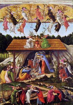 BOTTICELLI: NATIVITÀ MISTICA, 1501, NATIONAL GALLERY, LONDRA via CreARTivita:il viaggio nell'arte FB