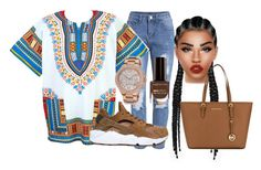 """""""African Style"""" by ronkexx12 on Polyvore featuring NIKE, Lime Crime, Michael Kors, Max Factor and MICHAEL Michael Kors"""