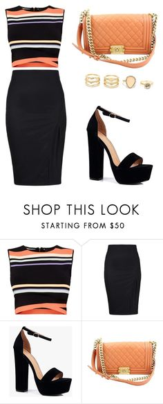 CROP TOP STRIPES by tania-alves on Polyvore featuring Ted Baker, Boohoo, Chanel and LULUS