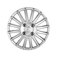 "Car Wheel Hub Caps - SODIAL(R) 13"" Car Wheel Trims Hub Caps Plastic Covers Universal Matte silver"