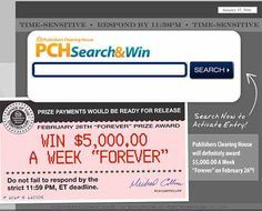 PCH Sweepstakes Win $100,000.00