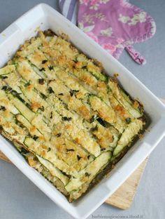 parmigiana di zucchine bianca tutto a crudo