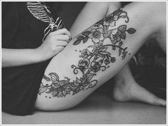 Orchid Tattoo Designs: Unique Orchid Tattoo Design For Girl ~ Tattoo Design Inspiration