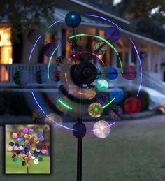 Solar Sparkler Wind Spinner Led | Garden Art | Plow & Hearth