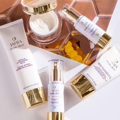 Give the gift of beautiful skin this holiday! Shop our Royal Jelly Ritual for an easy step-by-step to glowing skin. Royal Jelly, Cleansing Milk, Beauty Consultant, Glowing Skin, Body Care, Beauty Makeup, Perfume Bottles, Fragrance, Good Things