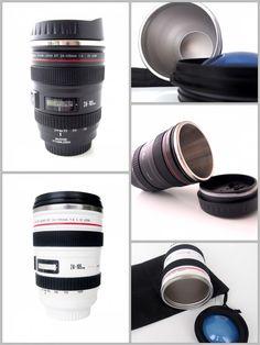 Taza termo objetivo cámara réflex. La tienes en #Ohmycool por sólo 14,95€. #Fotografía Pincha aquí para verla en la tienda: http://ohmycool.com/taza-termo-replica-objetivo-camara-reflex.html