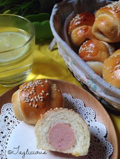 """Who can resist these mini hotdog buns? Once """"they"""" are out from the oven, my kids can't wait to have a few of it. Love this recipe shared by..."""