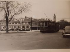 1951 Sheepshead Bay, Brooklyn Trolley NYC Photo by Tappen's restaurant
