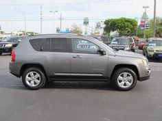 2013 Jeep Compass Sport SPORT SUV 4 Doors Gray for sale in Tampa, FL http://www.usedcarsgroup.com/used-2013-jeep-compass-tampa-fl-1c4njcba0dd140672