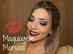 MAQUIAGEM MARSALA | Camila Castro Para mais informações: www.camilacastro.com.br