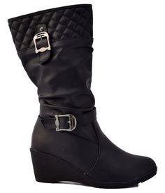Superstarbrand Black Block Slouch Boot