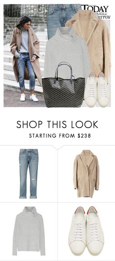 """2509. Blogger Style: JUNE Sixty-Five"" by chocolatepumma ❤ liked on Polyvore featuring Oris, Current/Elliott, 32 Paradis Sprung Frères, Autumn Cashmere, Goyard and Yves Saint Laurent"