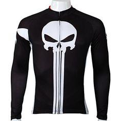 PaladinSport Men's Punisher Pattern Long Sleeve Bike Jersey Size XXXXL *** Click image for more details.
