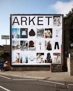 ARKET poster campaign in Broadway Market, London. #ARKET