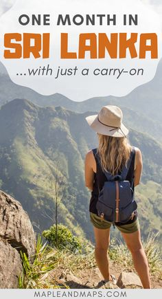 How to pack for one month in Sri Lanka in just a carry-on. #asia #srilanka #travel