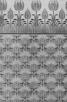 Bird and Tulip textile design by CFA Voysey, 1896
