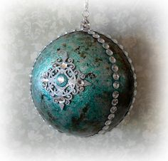 Handmade Christmas bauble gilded Christmas by CarmenHandCrafts