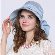 Fashion bow decoration sun hat package for women riding bucket hats Mens Bucket Hats, Sun Protection Hat, Hats For Sale, Kids Hats, Sport Wear, Sun Hats, Hats For Women, Bows, Elegant