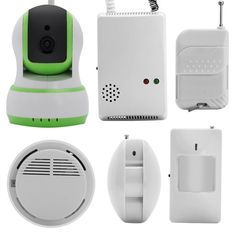 Key Features... - Total protection for you home with IP Camera, Gas Detector, Smoke Alarm, PIR Sensors and more - Remote monitoring with notifications to your Smartphone and mail account for peace of