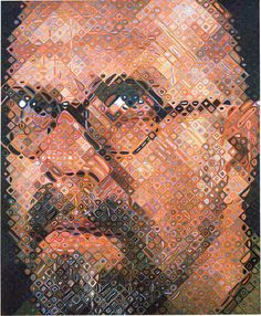 """oil on canvas; 102 x 84"""" (259.1 x 213.4 cm);  ; © Chuck Close, courtesy Pace Gallery / Photo by: Ellen Page Wilson, courtesy Pace Gallery"""