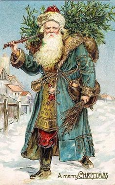 Blue+Robed+Victorian+Santa.jpg 372×600 pixels