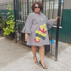 African Dresses For Women, African Wear, African Fashion, African Clothes, Ankara Fashion, Fashion Outfits, Short Ankara Dresses, Short Gowns, Fat Women