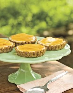 tarts on a cake stand