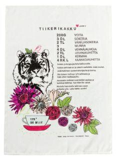 Finlayon Tiikeri Tea towel | Tiikeri-keittiöpyyhe 9 €