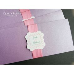 Other  Reception Cards pink and purple boarding pass handmade wedding card 01 35338 #wedding #weddingcards #cards #invitationcards