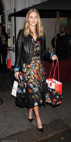 Chic: Donna Air pulled out all the stops forWednesday night's first anniversary party for...