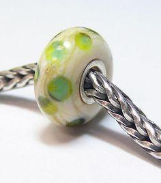 Authentic Retired Trollbeads Green Dot 61318 New Glass Beads | eBay