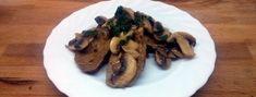Receta seitán con champiñones. Cómo preparar delicioso segundo plato de carne vegetal y salsa de setas. Fácil y bajo en grasas.
