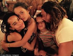 Rugged Aquaman actor Jason Momoa is intensely private about his family life, rarely sharing public photos with lovely wife Lisa Bonet, his two mini-me kids Aquaman Actor, Jason Momoa Aquaman, Lenny Kravitz, Michael Fassbender, Lisa Bonet Kids, Lisa Bonet Children, Jason Momoa Kids, Jason Momoa Children, Jason Momoa Lisa Bonet