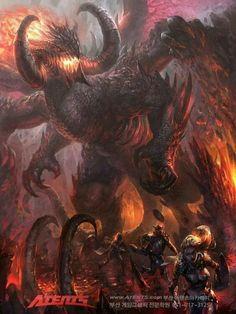 The Monster Dragon (RWBY x Dragonar Male Reader) - Something isn't right (Vol. 1 ending Monster Art, Monster Concept Art, Fantasy Monster, Creature Concept Art, Creature Design, Dark Fantasy Art, Fantasy Artwork, Fantasy Creatures, Mythical Creatures