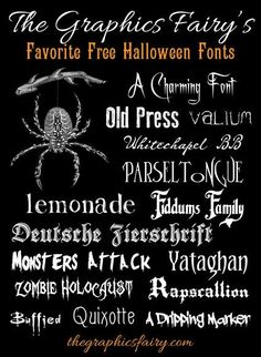 Best Free Halloween Fonts! #Fonts #Halloween by lucile