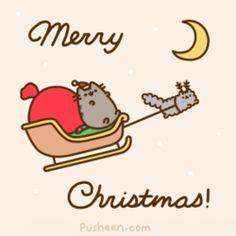 Pusheen the Cat - Animated Gif - Merry Christmas Pusheen Christmas, Christmas Cats, Christmas Humor, Merry Christmas, Christmas Holidays, Christmas Lights, Happy Holidays, Gato Pusheen, Pusheen Love