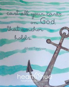 Anchor, Alfred Tennyson Quote (8.5 x 11). $16.00, via Etsy.