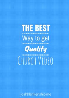 Take your church media to the next level with this video production trick.