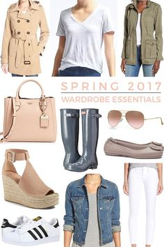 2019 Spring Wardrobe Essentials - So excited to share this year& list of SPRING WARDROBE ESSENTIALS! This is always one of my favorite posts to put together. This list is not exhaustive, but it& a good starting point. Spring Fashion Trends, Latest Fashion Trends, Spring Summer Fashion, Preppy Fall Outfits, Outfits Niños, Spring Outfits 2017 Casual, Fashion Mode, Fashion 2017, Womens Fashion