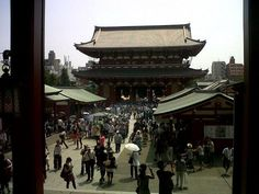 Asakusa temple, its normally busier then this