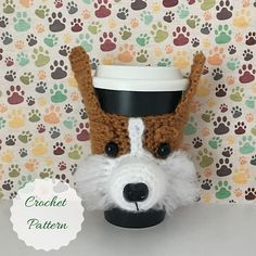 Corgi Mug (Cozy) - Corgi Addict - Welsh Corgi - Corgi Rescue - Funny Corgi - Corgies - Gifts For Dog People - Corgi Stuff - Corgi Things by HookedbyAngel Corgi Rescue, Crochet Cup Cozy, Dog Crochet, Crochet Dog Patterns, Crochet Ideas, Corgi Mug, Selling Crochet, Mug Cozy, Coffee Cozy