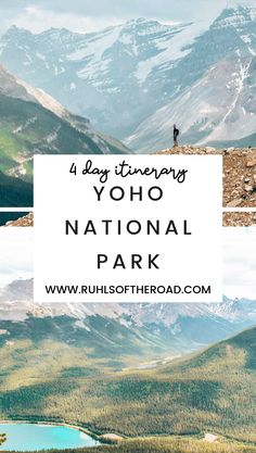 Yoho is Canadas HIDDEN GEM Waterfalls lakes hiking mountains wildlife camping and more. We are giving you the BEST 4 Hikes in Yoho National Park National Park Camping, Canada National Parks, Yoho National Park, Parks Canada, Parc National, Canada Travel, Travel Usa, Columbia Travel, Canada Trip