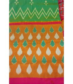 Green Handloom Pure Ikkat Silk Saree