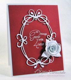 Grow With Love Rolled Rose by kittie747 - Cards and Paper Crafts at Splitcoaststampers