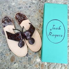 ✨✨{Jack Rogers} Newport Croc Sandals Brand new in box, never been worn. Please know/be familiar with your own Jack Rogers sizing. ❗️Price is firm, even when bundled ❗️   ❌ No Trades/ No PayPal  ❌ No Lowballing  ✅ Bundle Discounts ✅ Ship Same or Next Day  % Authentic Jack Rogers Shoes Sandals