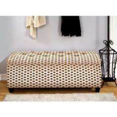 The Sole Secret Jojo Brown Shoe Storage Bench (Large) (Foam)